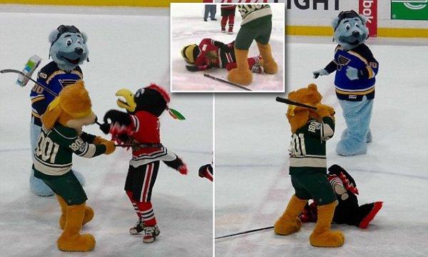 NHL team Minnesota Wild apologizes for violent mascot skit ...