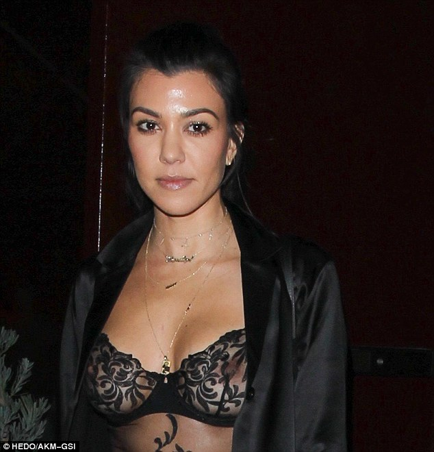 Back on? Kourtney Kardashian appeared to rekindle her rumoured romance with Justin Bieber at West Hollywood hotspot The Peppermint Club on Saturday night