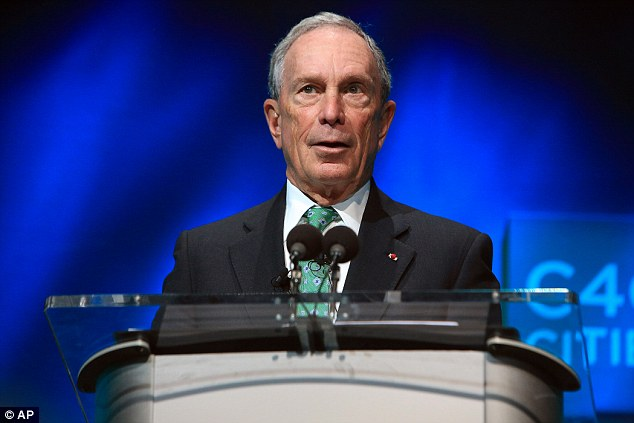 Former New York Mayor Michael Bloomberg is in at number eight with £32.8billion ($39.6bn)