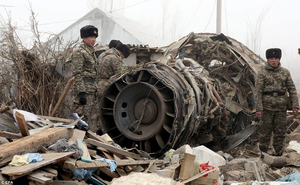 The Turkish Boeing 747 crashed just outside the Manas airport, south of the capital Bishkek, killing people in the residential area adjacent to the airport as well as those on the plane