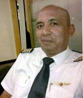 Zaharie Ahmad Shah (pictured) was the pilot of the doomed flight