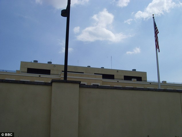 In December 2014, two guards were given reprimands after they were found out to be in a sexual relationship with another guard at an outpost in the US Embassy in Kingston, Jamaica (exterior walls pictured)