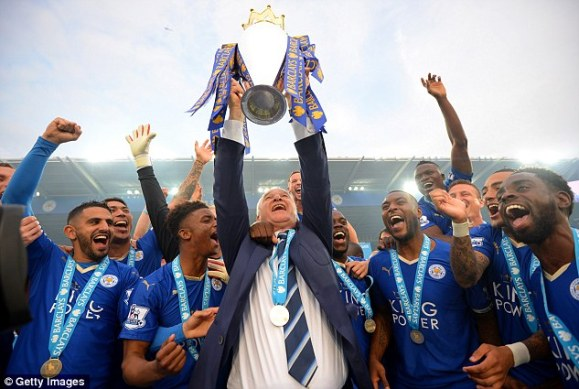 Leicester broke into the top 20 for the first time thanks to their Premier League title win