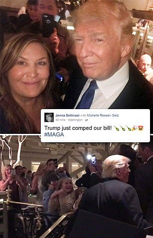 Trump fan says Donald paid her $1,000 dinner bill in DC