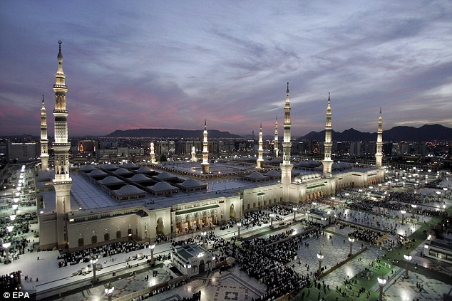 The Britons were travelling to Medina (pictured), the second holiest city in Islam, which is where the Prophet Muhammad is buried