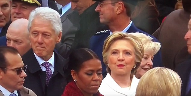 Clinton finally moved his head an inch as if to just barely acknowledge her, leaving Hillary to turn back to the stage like a woman who had seen it all before