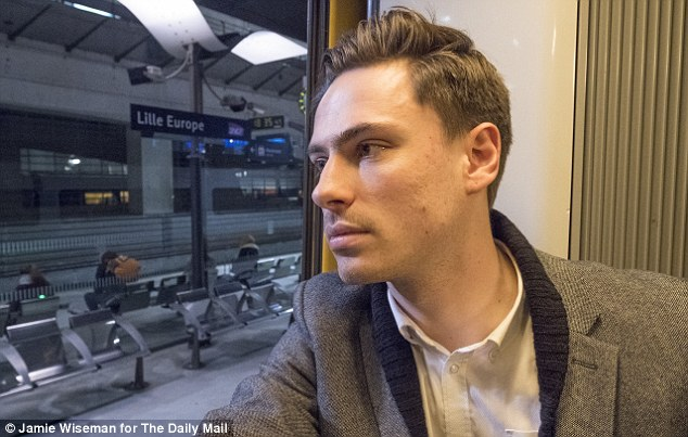 Daily Mail reporter Glen Keogh, pictured, exposed a shocking loophole in border security after boarding a Eurostar in Brussels and arriving in the UK without showing his passport