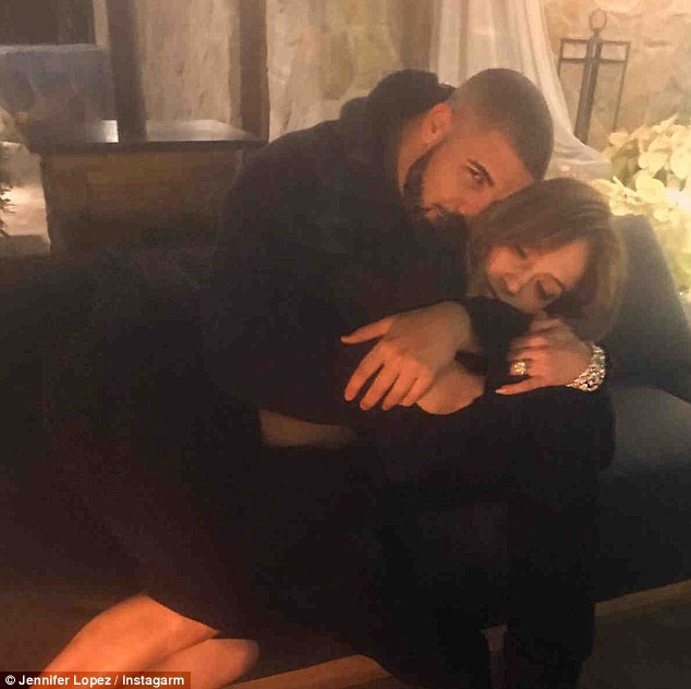 Cute couple:Drake's outing comes as his girlfriend Jennifer is said to be 'head over heels'. The couple went public with their romance in December, and it appears to be moving fast