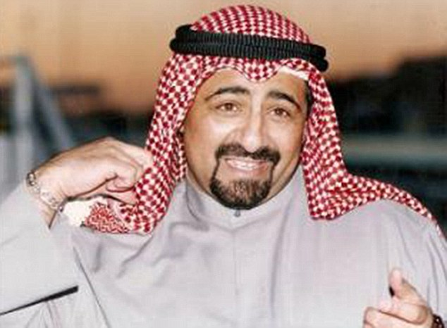 Faisal Abdullah Al-Jaber Al-Sabah (pictured), who killed his nephew Basil Al-Sabah in 2010, was among seven people to face their fate today having been sentenced to death