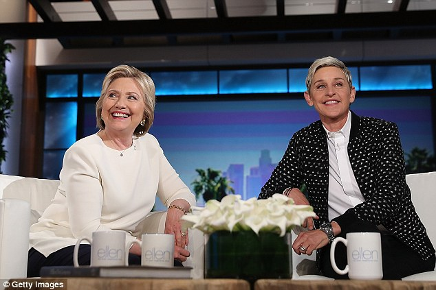 Clinton got plenty of on-air experience during the 2016 campaign, but has never hosted a broadcast program. She is seen during an appearance on the Ellen DeGeneres Show in May, 2016, during her run for president