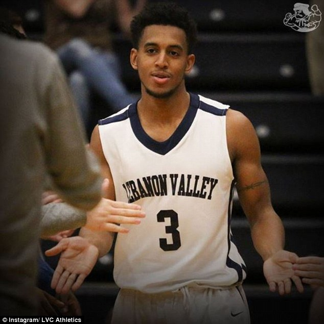 Ricky Lee Bugg Jr studies and plays basketball at Lebanon Valley College in Annville, Pennsylvania