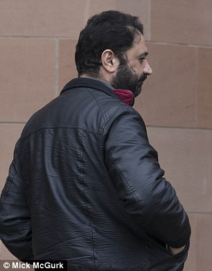 In the dock: Fahd Hussein Al Shrayteh, 40, pictrued, who arrived in Scotland with the first group of Syrians escaping the war in his homeland, was on trial for alleged assaults on the same child he was convicted of hurting the same child
