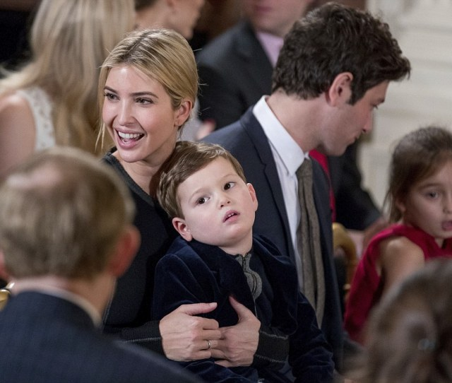 Ivanka Trump At Her Husbands Swearing In Ceremony In The East Room Of The White House