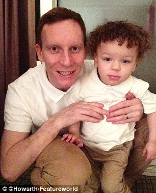'Happy and healthy is all that matters': Richard Howarth pictured with Jonah