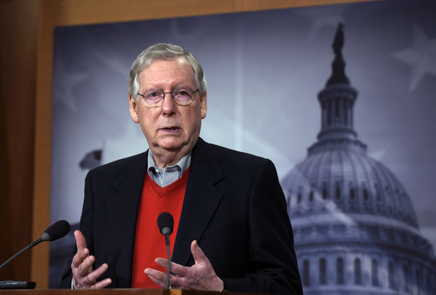 When Trump nominates a justice, Senate Democrats and Republicans (including Senate Majority Leader Mitch McConnell, pictured) will come under immense pressure