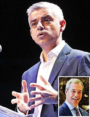 Nigel Farage accuses London Mayor Sadiq Khan of hypocrisy