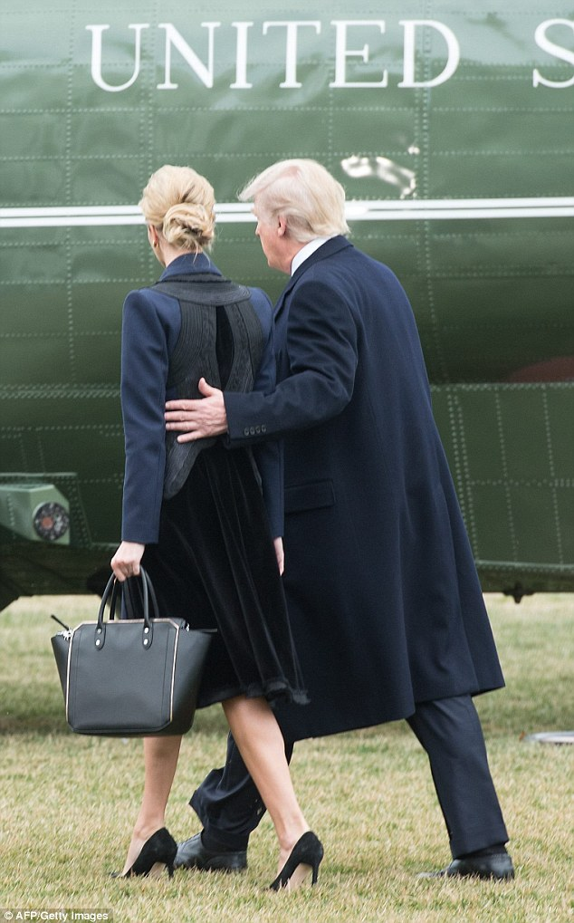 Today's journey is Ivanka's first trip on Marine One