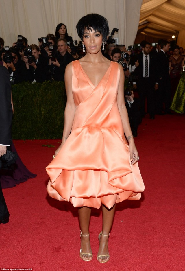 """It's over now:'The reports of Solange being intoxicated or displaying erratic behavior throughout that evening are simply false,"""" the statement continued. """"At the end of the day families have problems and we're no different. We love each other and above all we are family. We've put this behind us and hope everyone else will do the same.'"""