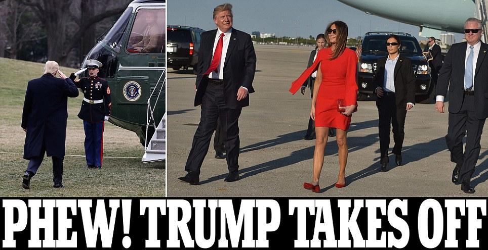 Trump reunites with Melania at Mar-a-Lago in Florida