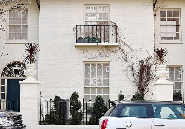 His bolthole is a three-bedroom Georgian house, worth an estimated £4 million and owned by a businessman, in a quiet Chelsea side street