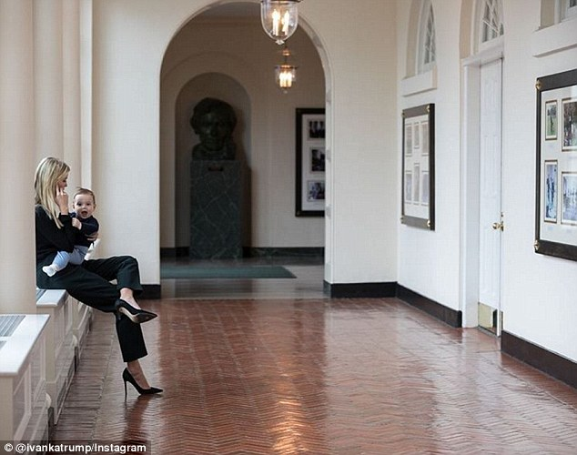 Baby Theodore has a new position in the White House as 'personal assistant' to his mother Ivanka Trump. Ivanka shared a sweet photo of her and her 10-month-old son on Instagram as she held him while on the phone at the White House on Tuesday