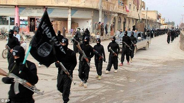 The Islamic State put curfews in place in three residential areas in Tal Afar after the man was found dead, and ten people were arrested as they searched for the person who smothered one of their members to death (file photo)