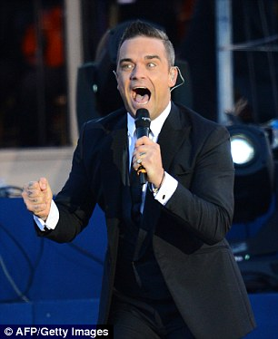 Robbie Williams (pictured) is known for his sex, drugs and rock 'n' roll lifestyle