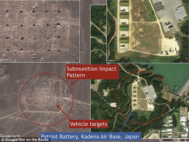 An investigation of satellite imagery by the War on the Rocks shows parts of parts of the Rocket Force range appearing to look like Patriot Batter, Kadena in Japan