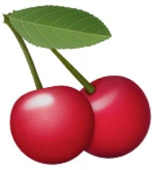 The cherries emoji can represent breasts
