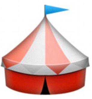 Men can signal an erection with the circus tent