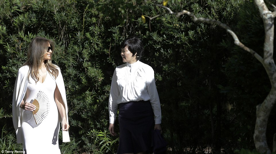 The women chatted and strolled through the beautiful Japanese Garden at Delray Beach