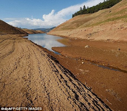 The impact of the drought was seen in 2014 and 2015, with the dam almost entirely dry during the lengthy spell