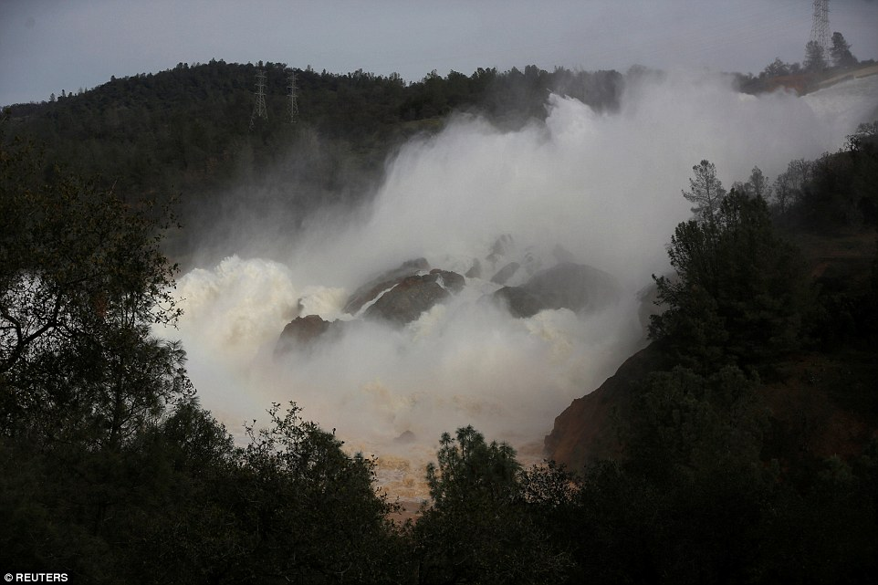 Hope: Water officials say storms expected later this week near communities evacuated over the threat of a spillway collapse at the nation's tallest dam will be smaller than last week