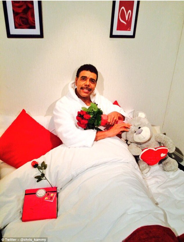 Chris Kamara got into the spirit of Valentine's Day with this picture he posted on Twitter