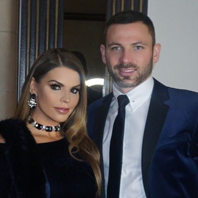 Stoke City's Phil Bardsley's wife Tanya posted a picture of the pair to celebrate the day