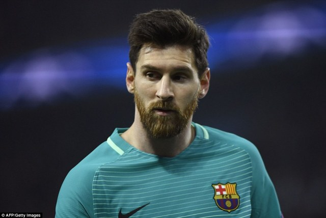 Lionel Messi and his colleagues now have it all to do when the two sides play the second leg at the Nou Camp in three weeks