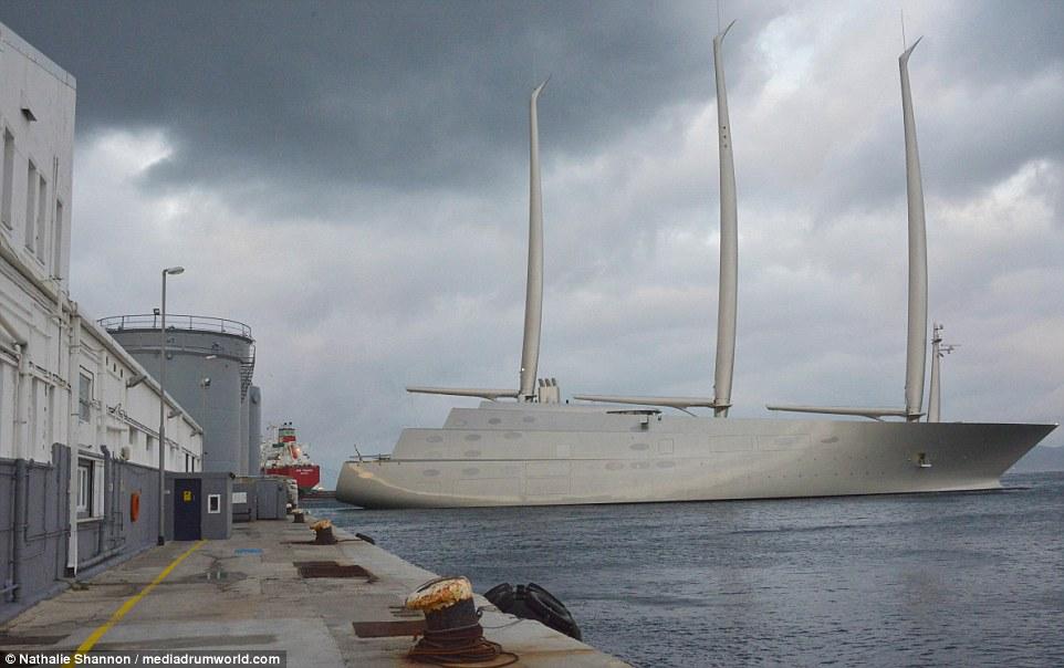Russian Billionaires Mammoth 360m Sailing Yacht A