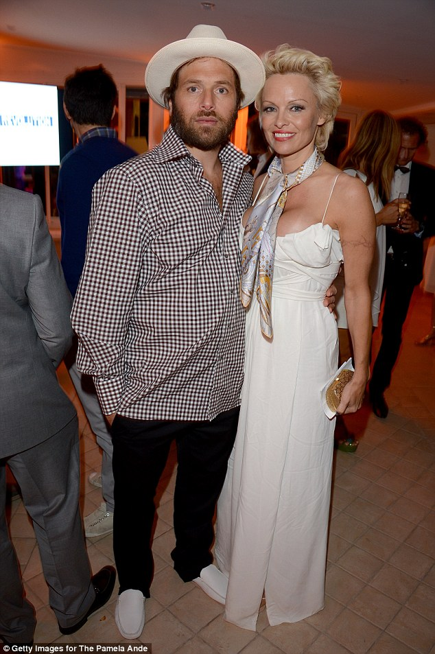 Pamela Anderson with her third husband, music producer Rick Salomon. Their first marriage lasted 170 days and the pair later remarried only to divorce for a second time