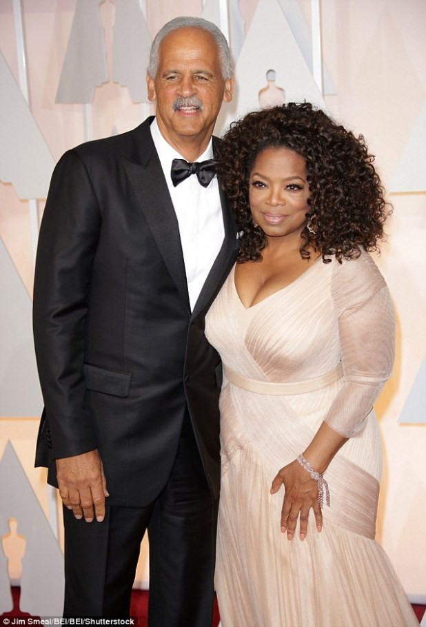 Her love: Oprah is in a 30 year relationship with her author partner  but they have never tied the knot