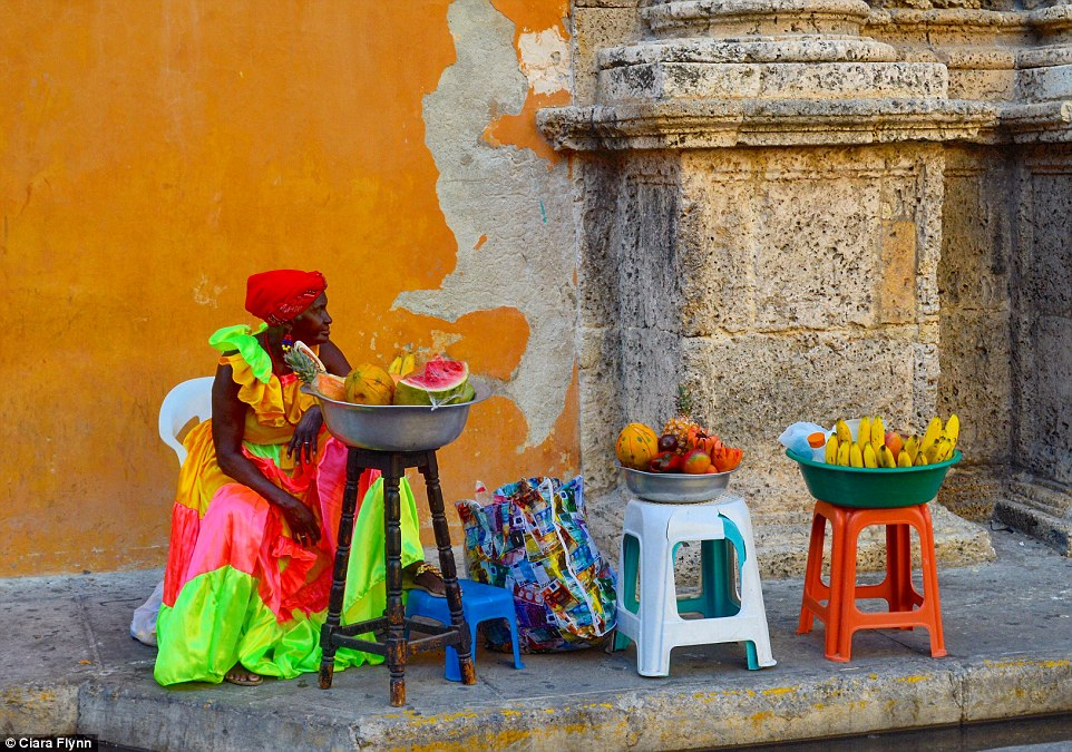 Ms Flynn also submitted this shot of a street vendor in Colombia into the competition, which was entered by 75,000 applicants