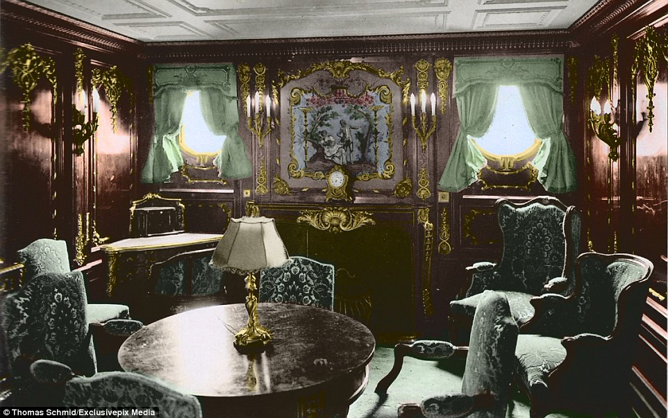 Colourised Images Show The Luxury Aboard The Titanic