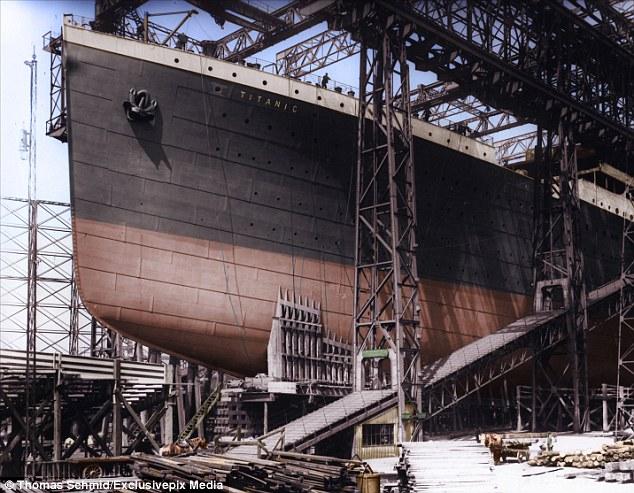 Titanic era uno de los tres transatlánticos 'clase olímpica' construido en Belfast.  Se nave hermana, HMHS Británica, también hundido durante la Primera Guerra Mundial