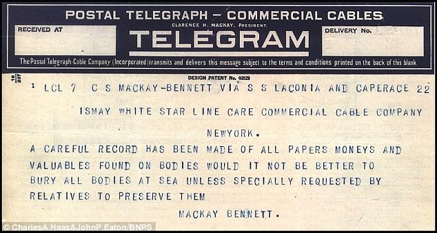 Los telegramas revelan el proceso de enfriamiento de la recuperación de los cuerpos - que incluía la organización de los cadáveres por parte de sus efectos personales