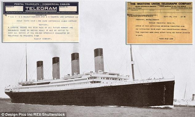 De los 334 cuerpos recuperados del lugar del hundimiento del Titanic por el Mackay-Bennett, 116 fueron enterrados en el mar