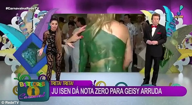The scenes were shown live for a programme on Brazil's RedeTV