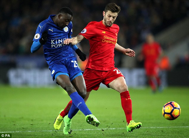 Wilfred Ndidi played a pivotal role for Leicester but Adam Lallana was anonymous in midfield