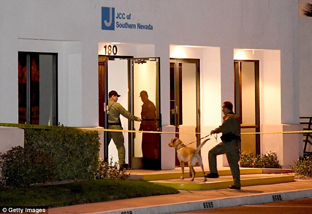 Jewish community centers and schools in at least 12 states reported getting bomb threats on Monday. The Las Vegas Metropolitan Police Department K-9 officers searched the Jewish Community Center of Southern Nevada after an employee received a suspicious phone call