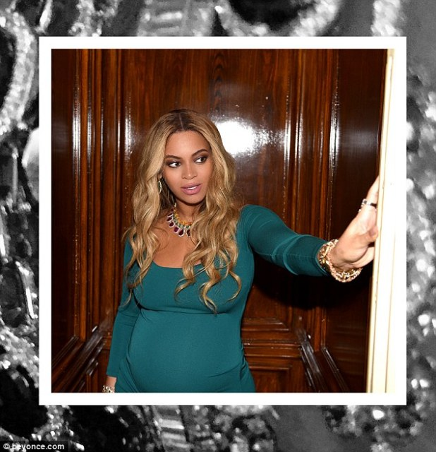 Make way: A Polaroid captured Beyonce emerging from what appeared to be an elevator