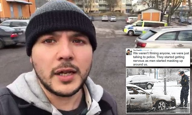 Journalists are told to leave Swedish 'no-go zone'