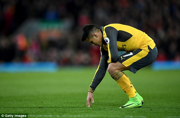 Image result for alexis sanchez sulking